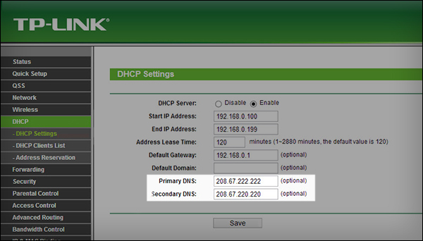 tp-link-dns-settings