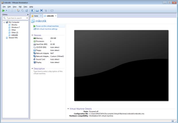 تنزيل المايكروتك على الويندوز باستخدام برنامج vmware