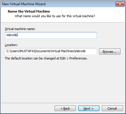 تنصيب المايكروتك على الويندوز باستخدام برنامج vmware