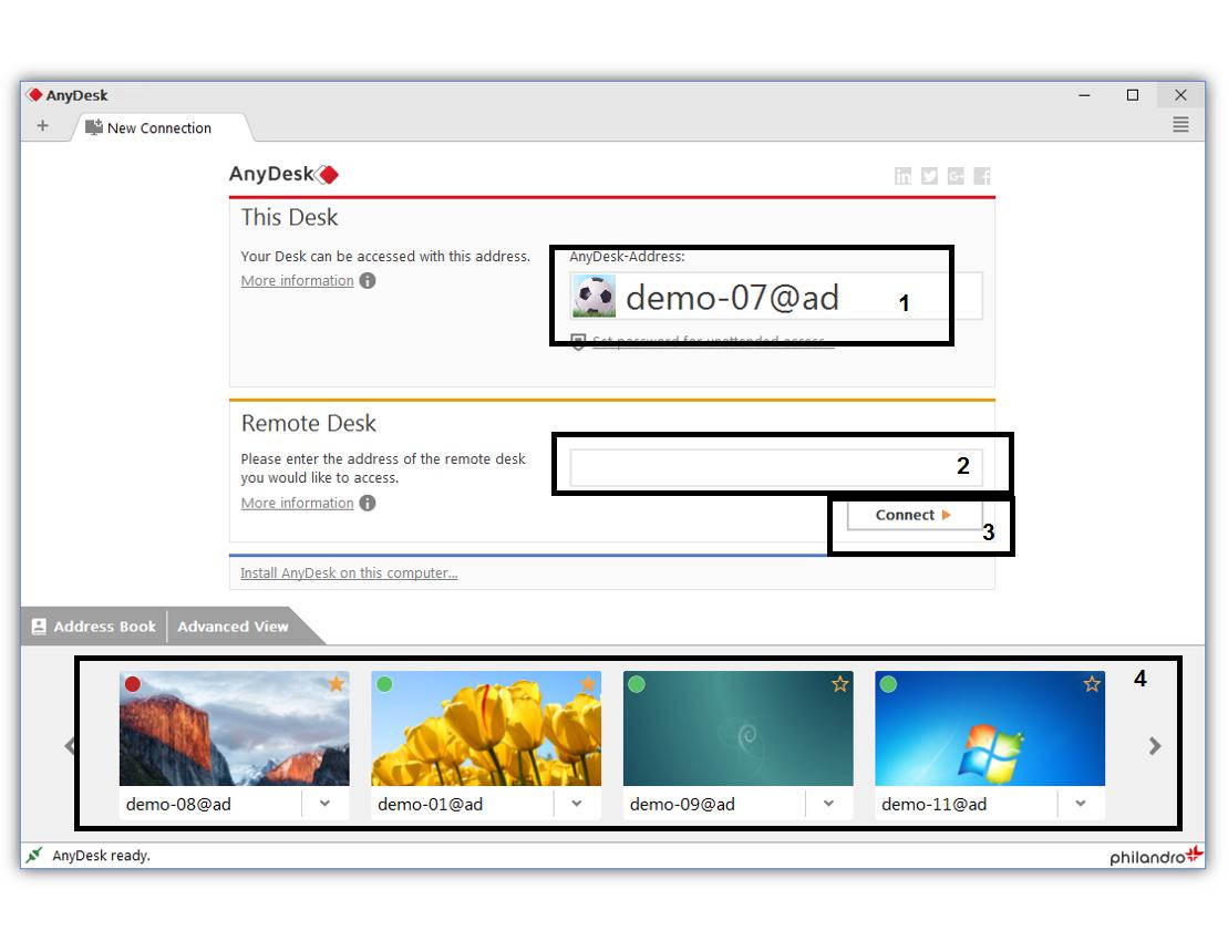 برنامج أني ديسك AnyDesk للتحكم بأجهزة الكمبيوتر
