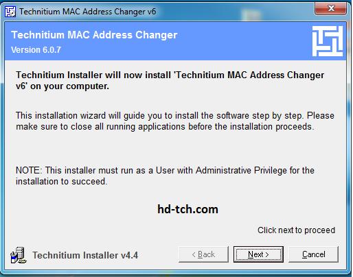 شرح برنامج TMAC لتغيير ماكات الكمبيوتر وكروت لان الشبكة
