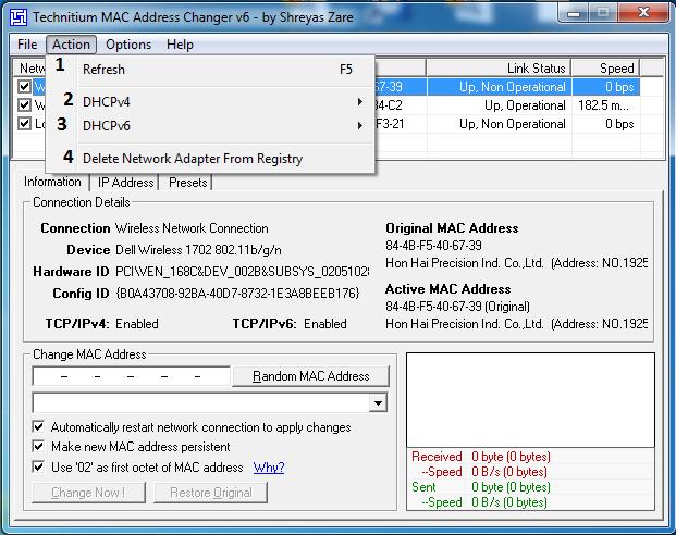 شرح برنامج TMAC لتغيير ماكات الكمبيوتر وكروت لان الشبكة باحترافية