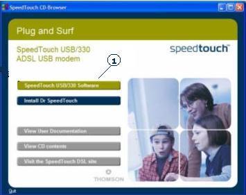 شرح أعدادت مودم Speedtouch USB 330-12