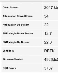 أسباب ضعف اشارة ADSL