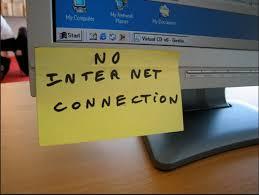 مشاكل تقطعات الانترنت