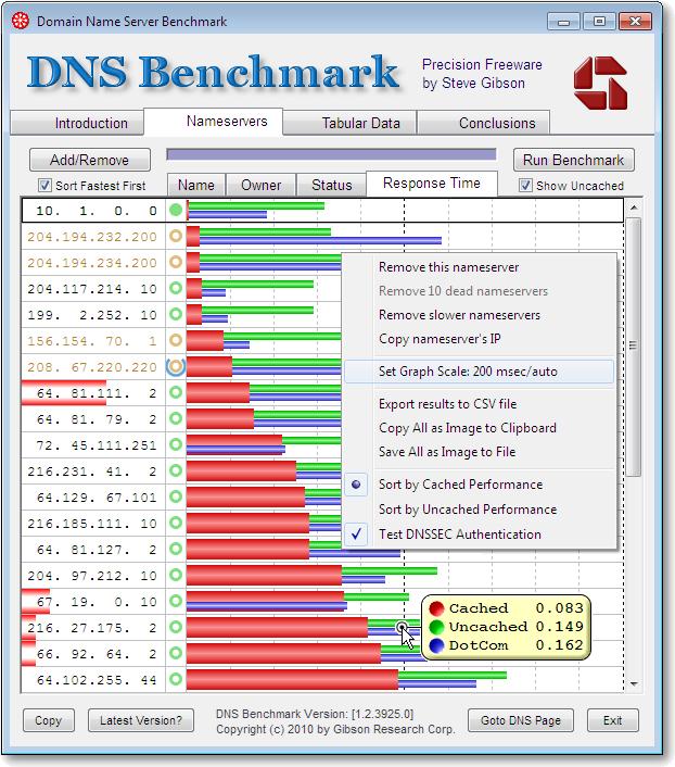 حجب المواقع الاباحية ببرنامج DNSBench